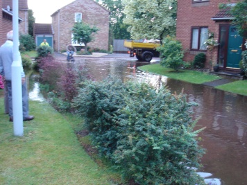 Flooding on resident street